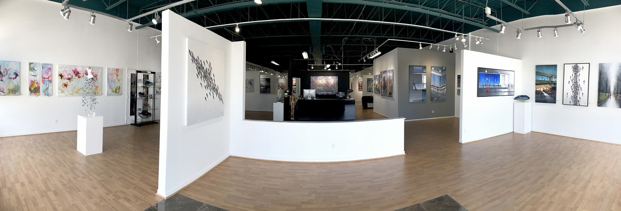 View of our original art for sale in our Toronto Art Gallery